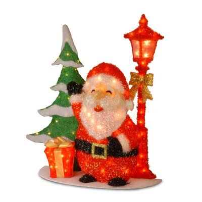 National Tree Co. Pre-Lit Tinsel Santa Clause