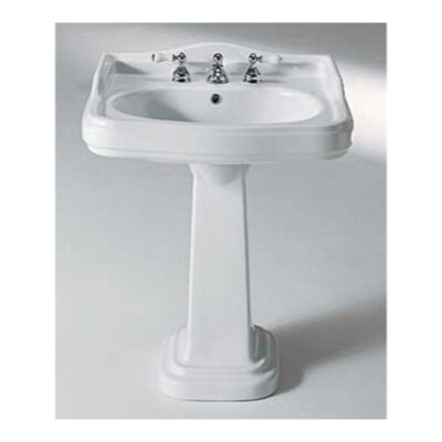 GSI Collection Old Antea Classic-Style Curved White Ceramic Pedestal Sink
