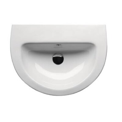 GSI Collection City Contemporary Curved Semi-Recessed Bathroom Sink