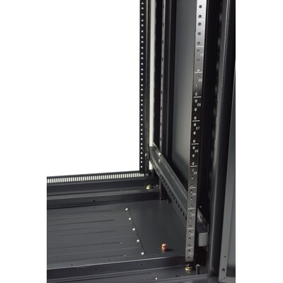 "Gator Cases 27U, 23"" Deep Metal Floor Rack with Glass Door"