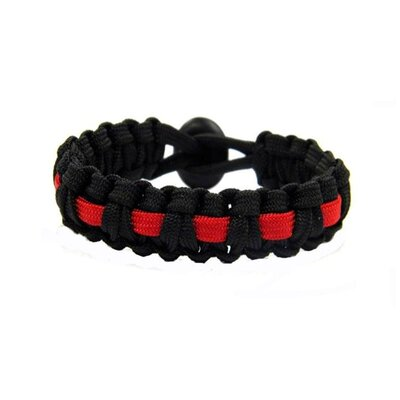 Obsessed Black and Red Paracord Bracelet