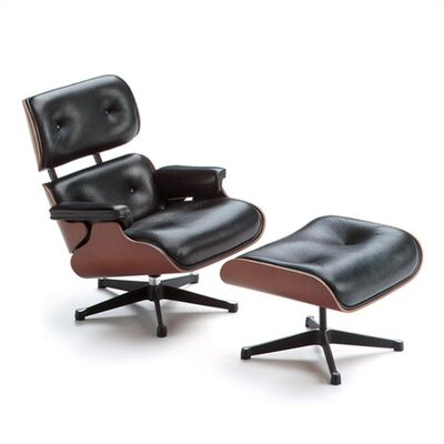 Vitra Miniatures - Lounge Chair and Ottoman by Charles Eames