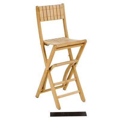 Les Jardins Teak Demi Lune II Barstool