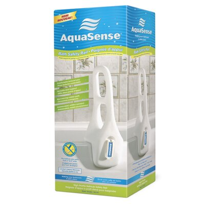 Aquasense Dual Grip Bathtub Safety Rail with Polyethylene Construction
