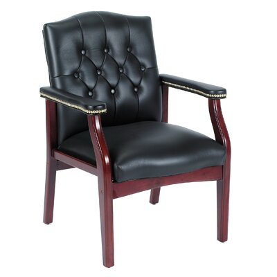 Boss Office Products Guest Chair with Brass Head Trim