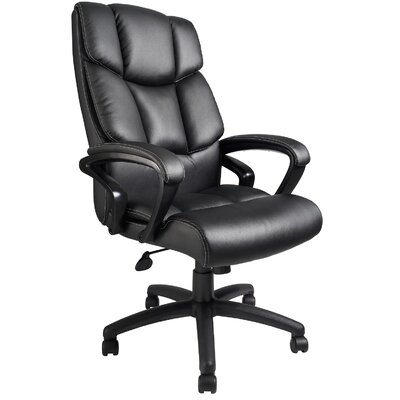 Boss Office Products High-Back Leather Executive Chair with Arms
