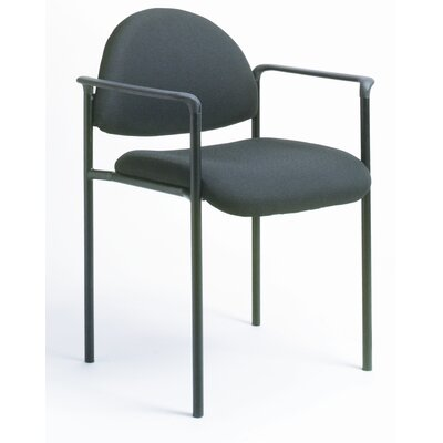 Boss Office Products Contemporary Style Stackable Chair with Arms