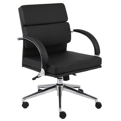 Boss Office Products Mid-Back Caressoft Plus Executive Chair