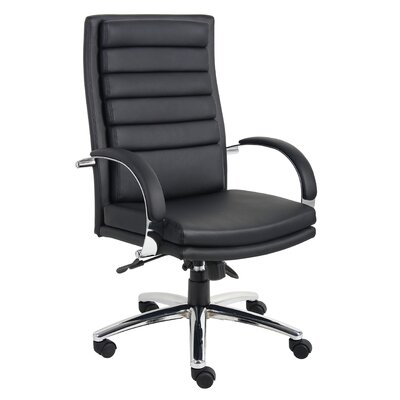 Boss Office Products High-Back Ribbed Executive Chair