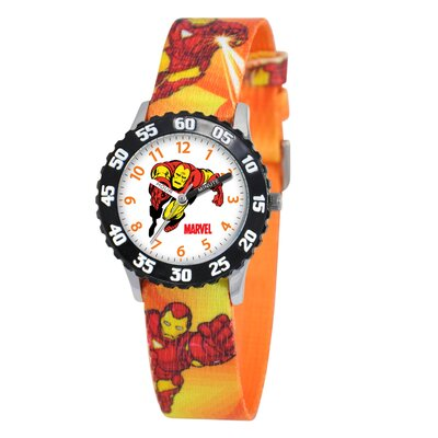 Kid's Iron Man Time Time Teacher Watch in Red