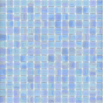 "Surfaces Elida Glass 13"" x 13"" Mosaic in Powder Blue"