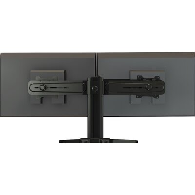 Crimson AV Dual Side by Side Monitor Desktop Stand