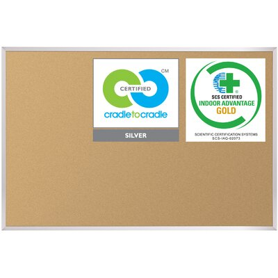 Best-Rite® VT Logic Cork Board with Aluminum Trim 3' x 4'