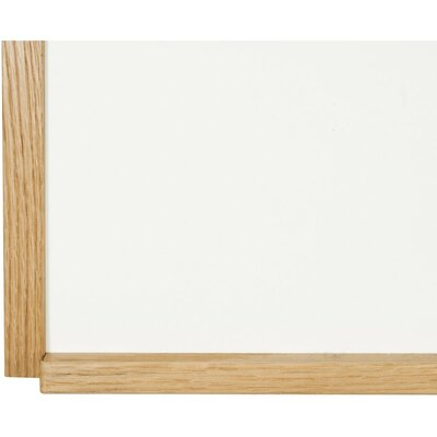 "Best-Rite® 18"" x 24"" Porcelain Steel Markerboard with Solid Wood Trim"