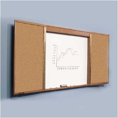 Best-Rite® Wood Enclosed Markerboard Cabinets