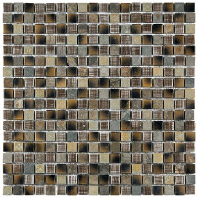 "EliteTile Isle 11-3/4"" x 11-3/4"" Porcelain Mosaic Wall Tile in Laurentia"