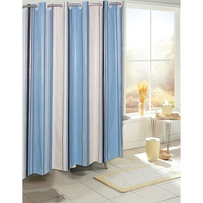 Carnation Home Fashions EZ On Stripes Vinyl Shower Curtain