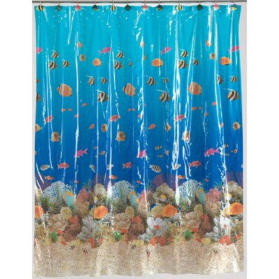 Carnation Home Fashions Sealife Vinyl Shower Curtain