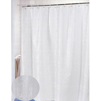 Carnation Home Fashions Damask Polyester Fabric Shower Curtain