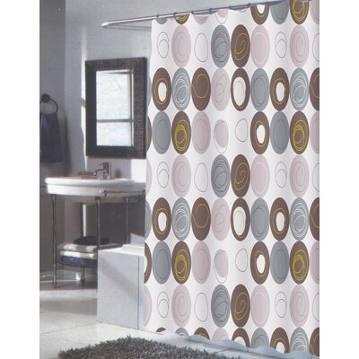 Carnation Home Fashions Madison Polyester Shower Curtain