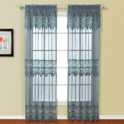 United Curtain Co. Valerie Rod Pocket Curtain Single Panel