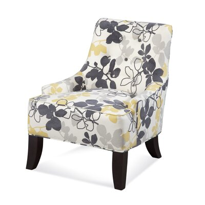 Transitional Button Back Arm Chair