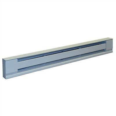 "TPI 375 Watt Electric Baseboard - Stainless Steel Element 24 "" Convection Heater w / White Finish"