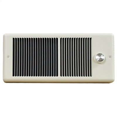 TPI Low Profile Fan Forced Wall Electric Space Heater with Wall Box and Single Pole Thermostat