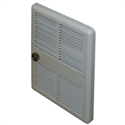 TPI Economical Mid-Size 240v Double Pole Fan Forced Wall Heater w/ Back Cans
