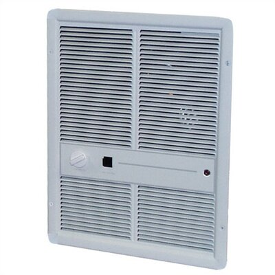 TPI Fan Forced Single - Pole 10,240 BTU ( 240v ) Wall Heater w/ Summer Fan Switch