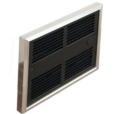 TPI Low Profile Commercial Double Pole 6,826 BTU Fan Forced Electric Wall Space Heater with Wall Box
