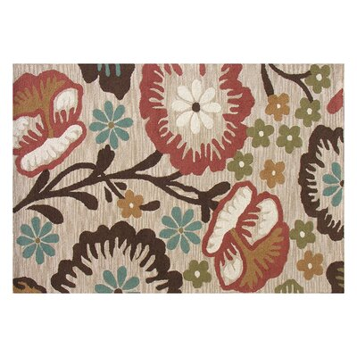 Home Decor Inc. Tuscany Taupe Floral Rug