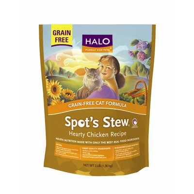 Halo Pets Spot's Stew Grain Free Chicken Dry Cat Food - 3 lbs