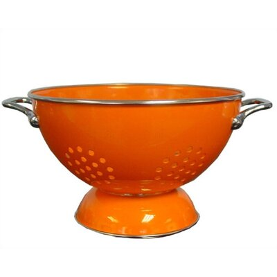 Calypso Basics 3 quart Colander in Orange with optional Accessories