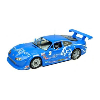 Jaguar XKRS Rocketsports - Johnson Controls Slot Car in Blue