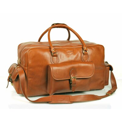 "Aston Leather 21"" Leather Carry-On Duffel with Top Zipper Closure"