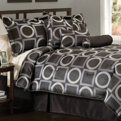 1st Apartment Geo Grid 4 Piece Queen Comforter Set