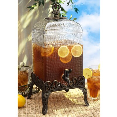 De Paris Hammered Glass Drink Dispenser