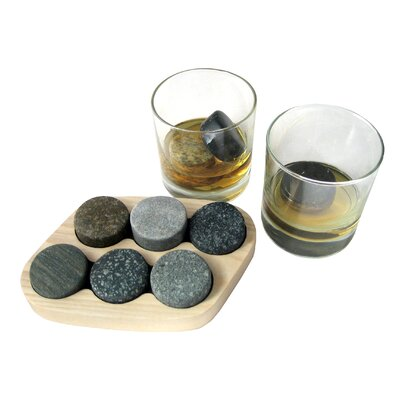 Sea Stones 9-Piece On the Rocks Granite Chillers Set