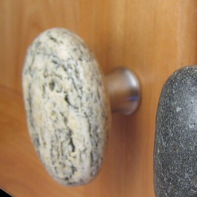 Sea Stones Serena Stone Cabinet Knobs in Natural