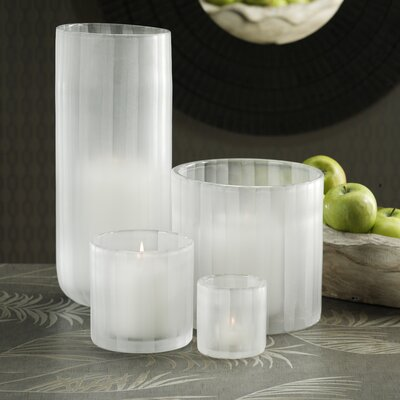 Barclay Butera Lifestyle  Desert  Frosted Glass Candle Holder Vase