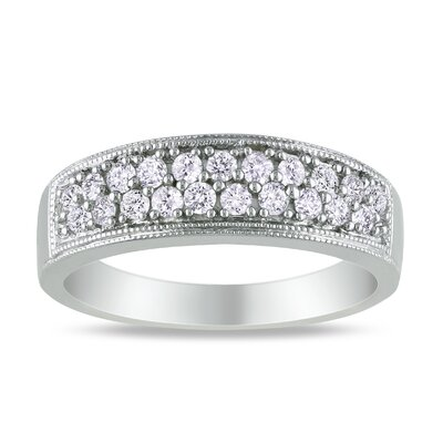 Sterling Silver White Diamonds Fashion Ring