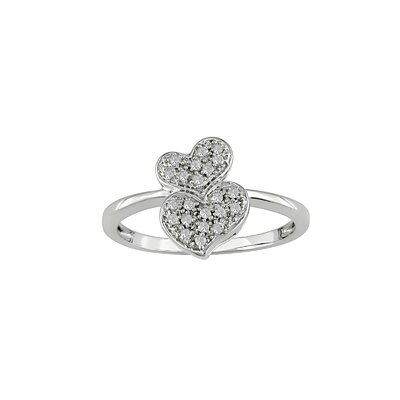 Amour White Gold Diamond Heart Ring