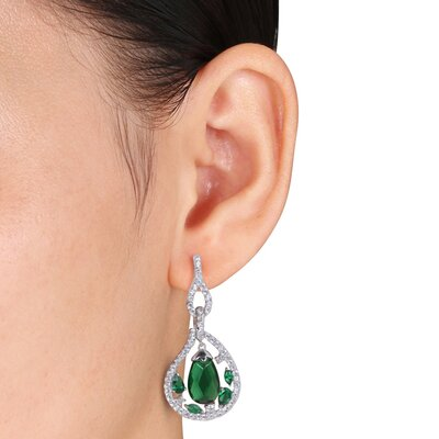 Amour Pear Cut Cubic Zirconia Drop Earrings
