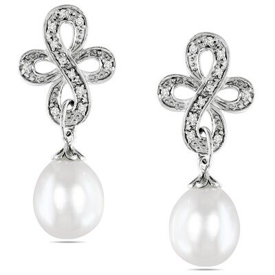 Amour Rice Shaped Pearl Ear Pin Earrings