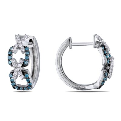 Amour Round Cut Diamond Hoop Earrings