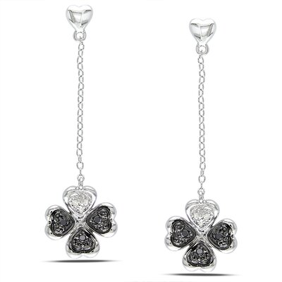 Amour Heart Cut Diamond Drop Earrings