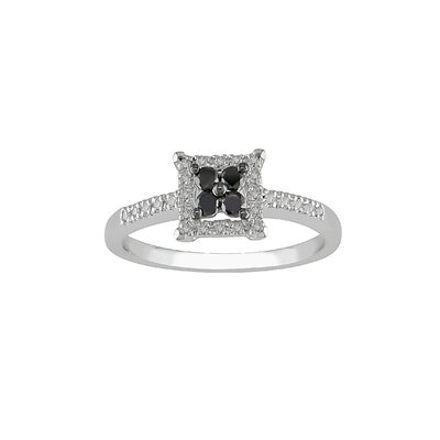 Amour White Gold Round Cut Diamond Fashion Ring