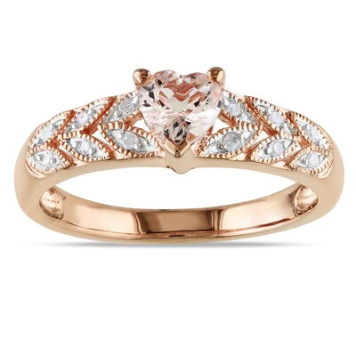 Sterling Silver Heart Cut Diamond Fashion Ring