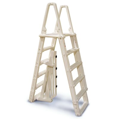 Confer Plastics Evolution A-Frame 5-Step Ladder with Barrier